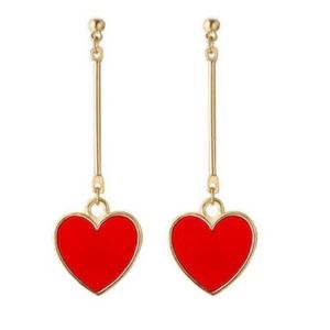 Jewelry - Heart Drop Earrings